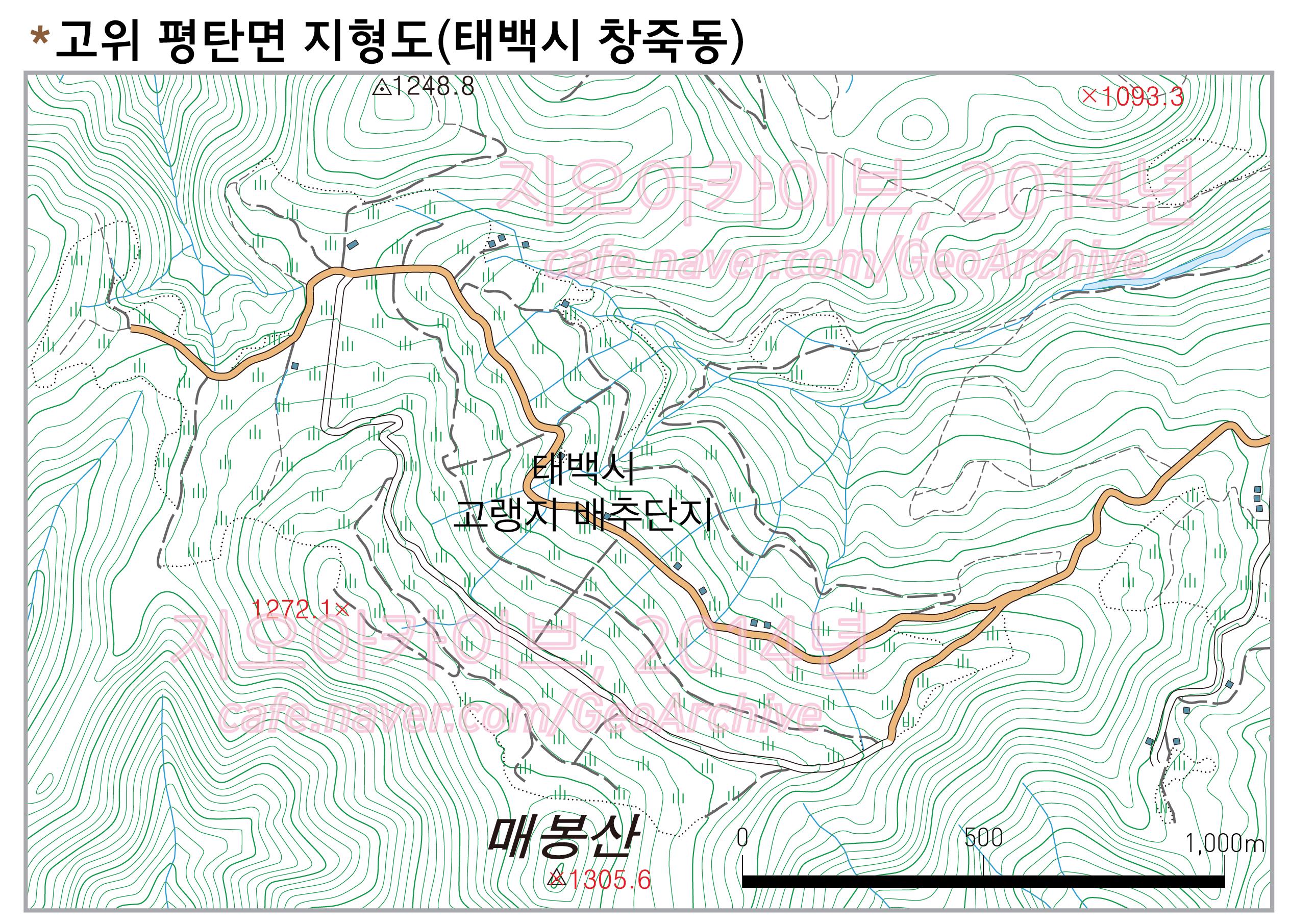 고위평탄면 지형도(태백시 창죽동)-01.png